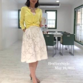 センスよくキレイな色を着る方法*レモンイエローのコーデ