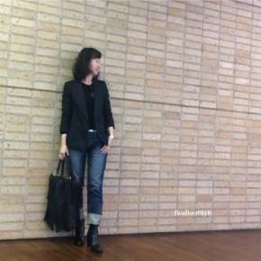 黒ジャケット×デニム×ブーツのMy定番コーディネート