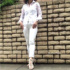 パーソナルファッション®講座で、白のワントーンコーディネート。